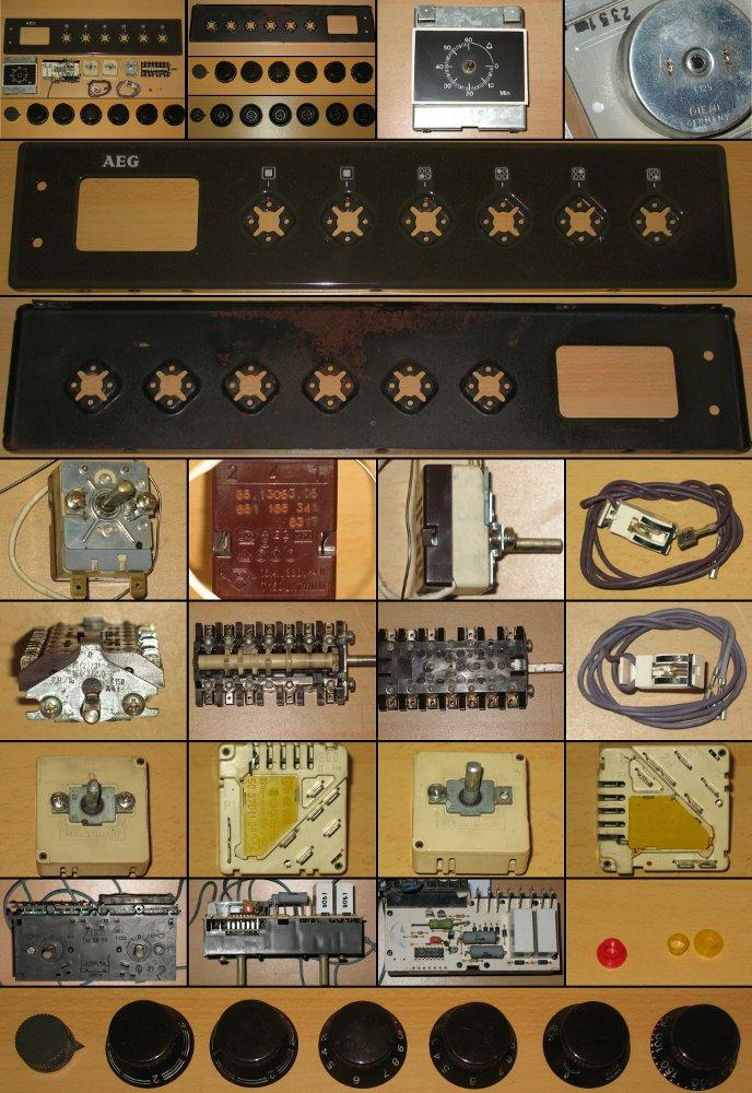 herdfrontplatte f r aeg backofen mit ceranfeld inkl schaltelemente diehl uhr ebay. Black Bedroom Furniture Sets. Home Design Ideas